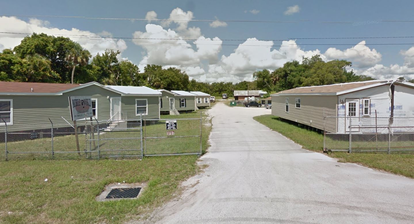 we have a florida mobile home lot