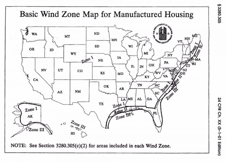 wind zone for a mobile home
