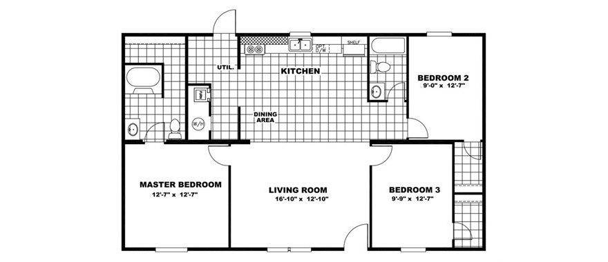 hand selected manufactured home floorplan